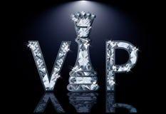 Cartão da xadrez do VIP dos diamantes ilustração do vetor