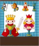 Cartão da xadrez dos desenhos animados ilustração do vetor