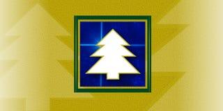 Cartão das árvores de Natal Ilustração Stock