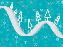 Cartão das árvores de Natal Fotografia de Stock