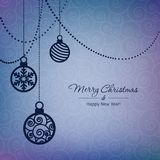 Cartão das bolas do Natal Imagens de Stock