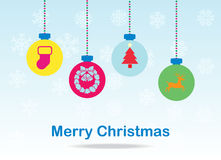 Cartão das bolas do Natal Imagem de Stock Royalty Free