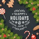 Cartão das decorações do feriado Fotografia de Stock