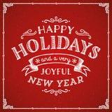 Cartão das decorações do feriado Imagem de Stock