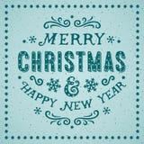 Cartão das decorações do Natal Fotos de Stock Royalty Free