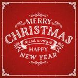 Cartão das decorações do Natal Fotografia de Stock