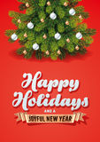Cartão das decorações dos feriados Fotografia de Stock Royalty Free