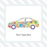 Cartão das engrenagens do carro Imagens de Stock
