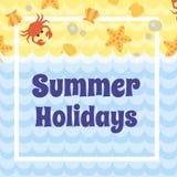 Cartão das férias de verão Fotografia de Stock