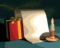 Cartão das felicitações do ano novo Imagens de Stock