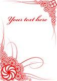 Cartão das flores Foto de Stock Royalty Free