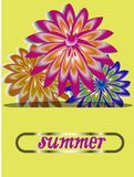 Cartão das flores como um presente para alguma data Imagem do vetor Fotos de Stock Royalty Free
