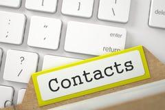 Cartão de índice do tipo com contatos da inscrição 3d Imagens de Stock Royalty Free
