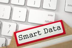 Cartão de índice do tipo com dados de Smart da inscrição 3d Imagens de Stock