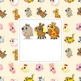 Cartão de Animla Fotografia de Stock