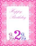 Cartão de aniversário Foto de Stock