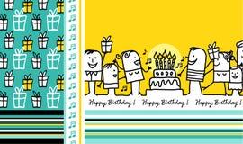 Cartão de aniversário 2 ilustração stock