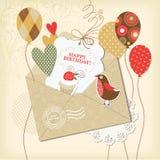 Cartão de aniversário ilustração do vetor