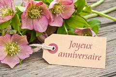 Cartão de aniversário imagem de stock royalty free