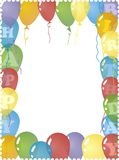 Cartão de aniversário Imagem de Stock