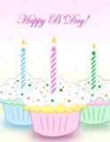 Cartão de aniversário Fotografia de Stock
