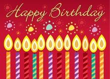 Cartão de aniversário ilustração stock