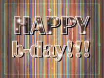 Cartão de aniversário colorido Foto de Stock Royalty Free
