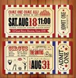 Cartão de aniversário com bilhete do circo Fotografia de Stock