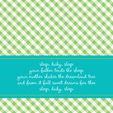 Cartão de aniversário com canção de ninar do bebê Imagem de Stock Royalty Free