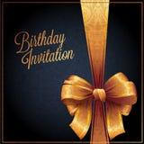 Cartão de aniversário com projeto do vetor do fundo Fotos de Stock
