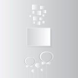 Cartão de aniversário com quadro em cinzento e em branco Imagem de Stock Royalty Free