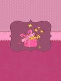 Cartão de aniversário do bebê com frame da foto Foto de Stock Royalty Free