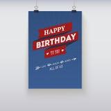 Cartão de aniversário do vintage Fotos de Stock