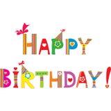 Cartão de aniversário engraçado Fotos de Stock