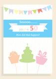 Cartão de aniversário para o 50th aniversário Imagem de Stock Royalty Free