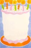 Cartão de aniversário vazio foto de stock