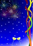 Cartão de ano novo Fotografia de Stock Royalty Free