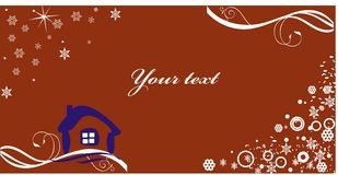 Cartão de ano novo Imagens de Stock