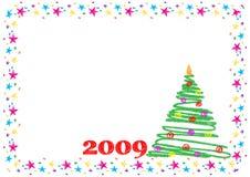 Cartão de ano novo Fotos de Stock Royalty Free