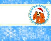 Cartão de ano novo com um cão ilustração do vetor