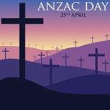 Cartão de ANZAC Day no formato do vetor Imagem de Stock