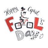 Cartão de April Fools Day Fotografia de Stock