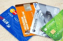 Cartão de banco diferente Imagens de Stock