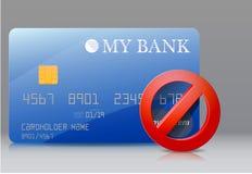Cartão de banco fechado Fotos de Stock Royalty Free