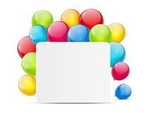 Cartão de Birtday com balões Imagem de Stock Royalty Free