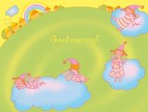 cartão de Bom-manhã Foto de Stock Royalty Free