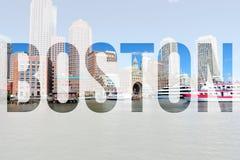 Cartão de Boston Fotos de Stock