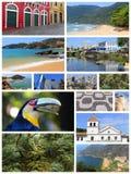 Cartão de Brasil Imagens de Stock Royalty Free