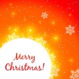 Cartão de brilho vermelho do Natal do vetor Foto de Stock