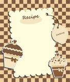 Cartão de Brown com queques Imagens de Stock